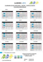 Calendari de recollida de cartó i paper porta a porta als polígons industrials.