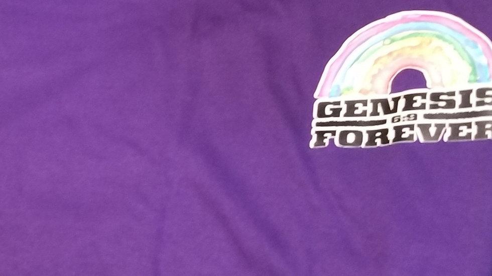 Genesis Forever Rainbow Crew Neck Pocket Logo T-Shirts