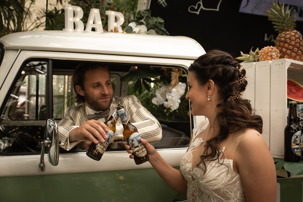 Hochzeit Bulli Bier