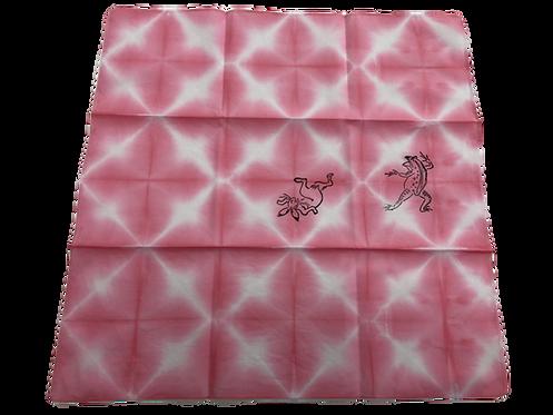 Choju giga handkerchief pink