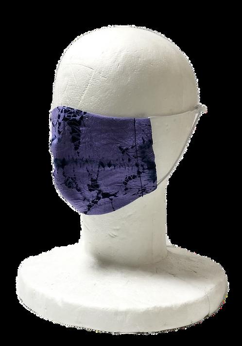 Shibori Mask Kasamaki purple