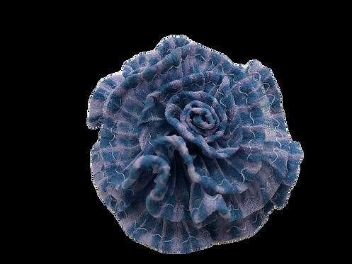 縫い締めコサージュ ブルー2