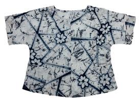 Floral pattern cotton indigo no.1