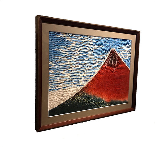 Shibori picture 'Red Mt.Fuji'