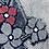 Thumbnail: メーター売り 綿 藍染 花柄2