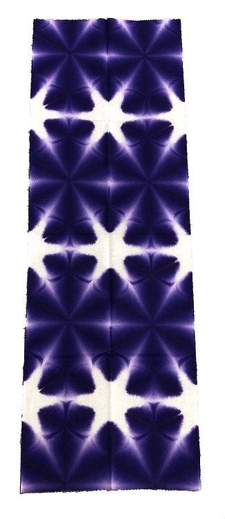 雪花絞りてぬぐい 紫