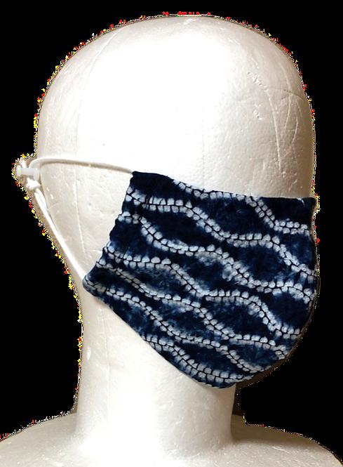 絞りマスク 折縫い締め絞り