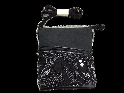 鹿の子ショルダーバッグ 黒