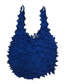 Kumo shibori shopping bag Blue