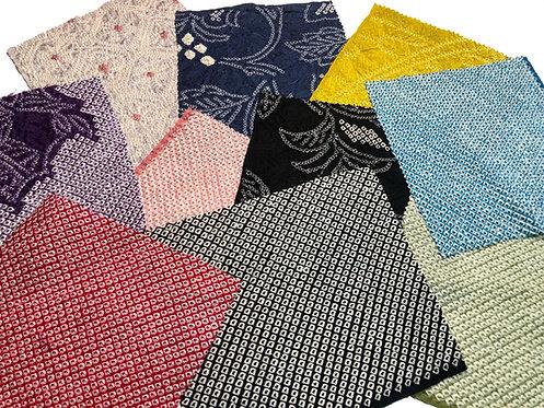 Various shibori Silk fabric