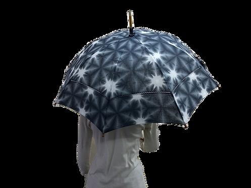 sekka shibori, cotton parasol, gray