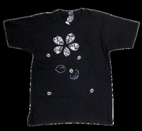傘巻絞り+縫い締め絞り 花 Lサイズ