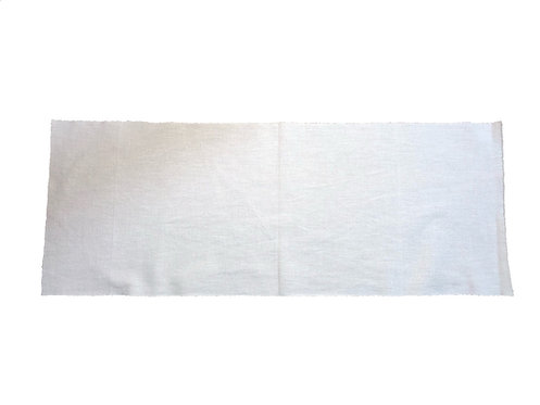 Table runner white fabric cotton