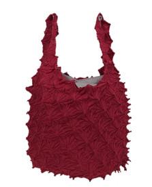 Kumo shibori shopping bag Red