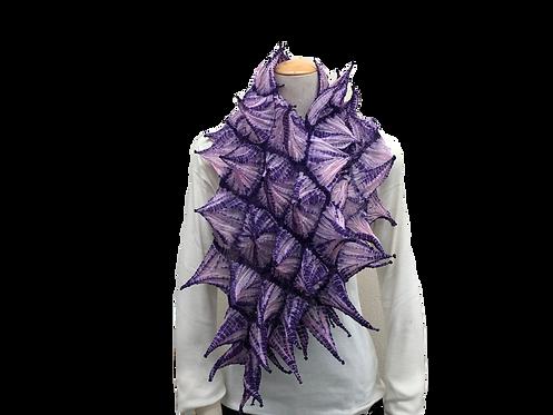 手蜘蛛絞りスカーフ パープル