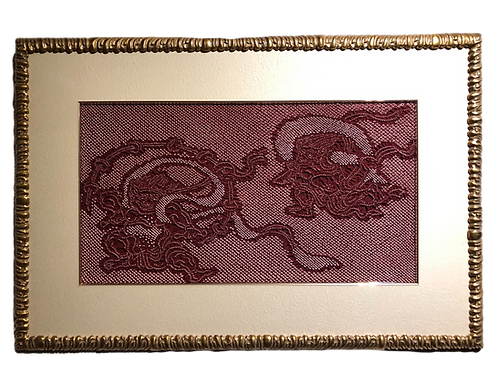 shibori picture wind god and thunder god red