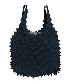 Kumo shibori shopping bag Black