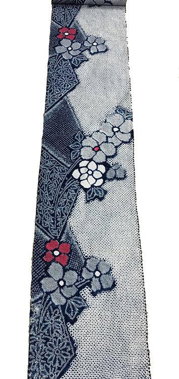 メーター売り 綿 藍染 花柄2