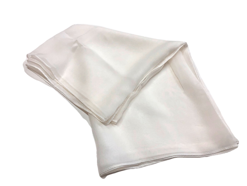 White silk georgette