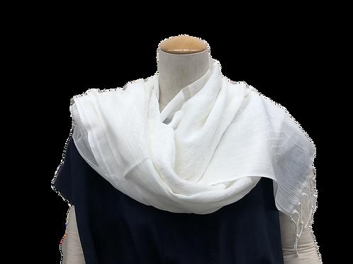 White cotton shawl