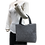 Thumbnail: Full shibori Kanoko bag black