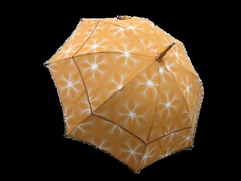 京萬華絞り 綿日傘 オレンジ