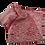 Thumbnail: Nuishime shibori silk scarf red