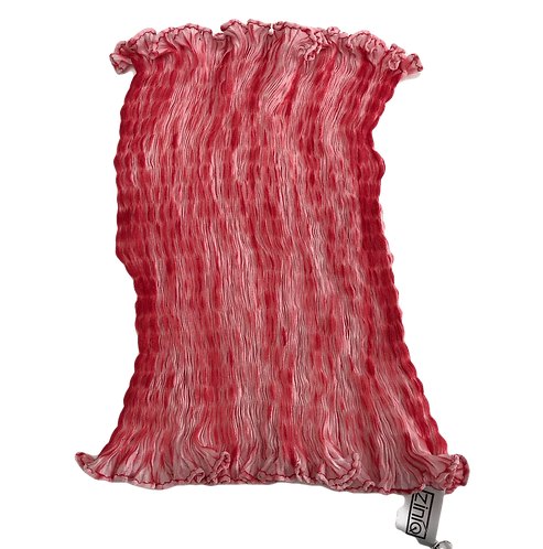 mini scarf nuishime shibori red white