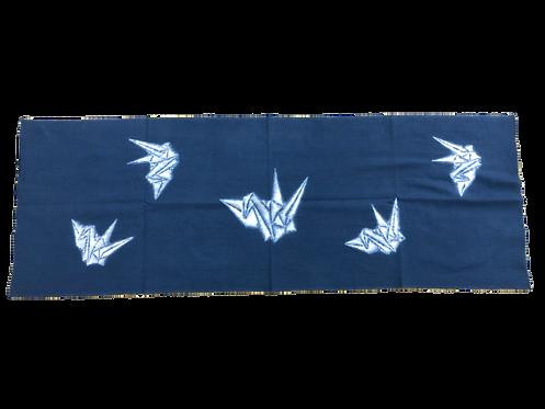 Kyo-hotaru shibori crane dark blue