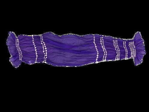唄絞りスカーフ パープル