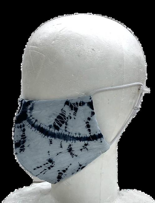 shibori mask kasamaki shibori indigo