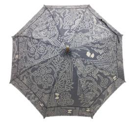 シルク日傘 グレー