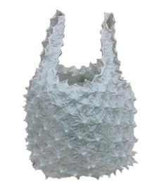 Kumo shibori shopping bag White