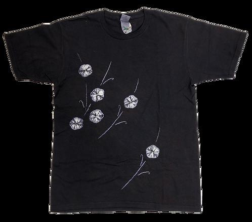 傘巻絞り+縫い締め絞り フラワー Lサイズ