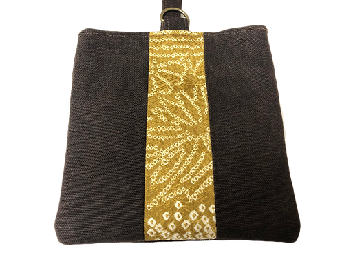 canvas pouch gold yellow
