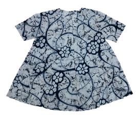 Floral pattern cotton indigo no.2
