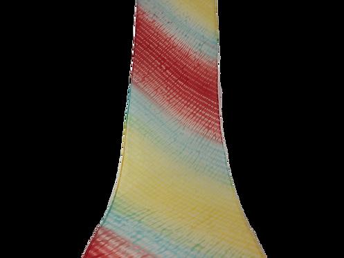 縫い締めシルクスカーフ レインボー