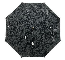 シルク日傘 黒