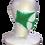 Thumbnail: 絞りマスク 板締め絞り グリーン