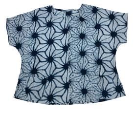 Asanoha cotton indigo