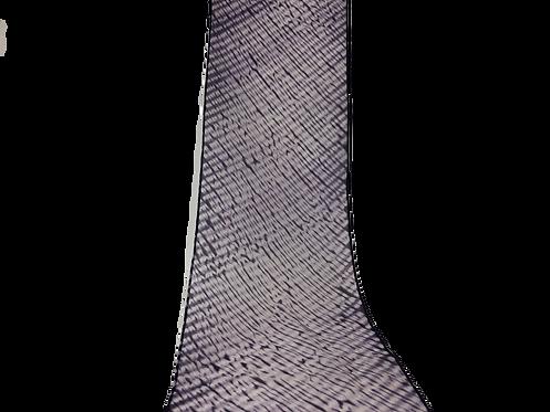 縫い締めシルクスカーフ パープル