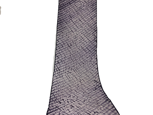 nuishime shibori scarf purple