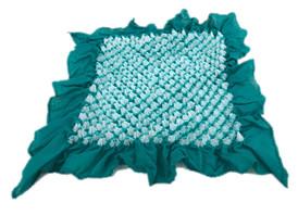 Bai shibori handkerchief Emerald Green