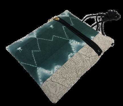 Eco bag zigzag green