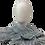 Thumbnail: bai shibori silver gray