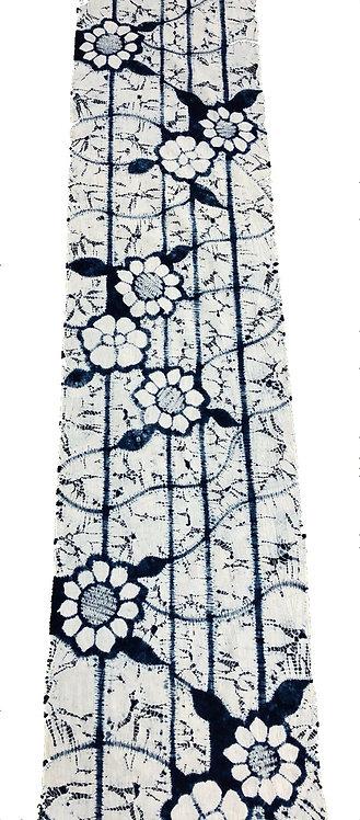 メーター売り 綿 藍染 花柄4
