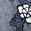 Thumbnail: Meter selling, shibori cotton fabric indigo dyeing floral pattern 1