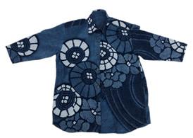 Kanoko cotton indigo