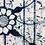 Thumbnail: メーター売り 綿 藍染 花柄4
