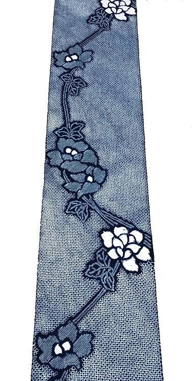 Meter selling, shibori cotton fabric indigo dyeing floral pattern 1